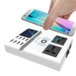 Оригинал Bakeey Qi Беспроводное зарядное устройство 8 портов USB Smart Charger со светодиодным Дисплей EU Plug Power Charger