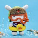 Оригинал XIAOMI Фаршированная плюшевая игрушка 25CM Cute Diver Classic MITU Кукла Подарочная коллекция