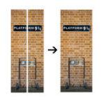 Оригинал 3D DIY Платформа для Гарри Поттера 9 3/4 Дверная наклейка для стенной обложки Mural Decole Self Adhesive Room Decor