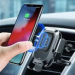 Оригинал BaseusИнфракрасныйдатчикАвтоДержательдля iPhone XS XR QI Беспроводное зарядное устройство Вентиляционный кронштейн