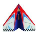 Оригинал 1024 мм Wingspan DIY RC Самолет Самолет Бумажный самолет KIT Красный / Желтый