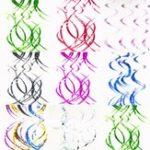 Оригинал 5Pcs / lot Спираль Платья для вечеринок в стиле PVC Орнамент на день рождения Декорации для дня рождения Фольга Swirls Banner