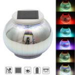Оригинал Солнечная Powered Colorful 3D фонарь свет Датчик LED Лужайка Лампа для Сад Двор На открытом воздухе
