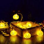 Оригинал LUSTREON 2M 3M Батарея Powered Halloween Pumpkin DIY LED String Light Home Party Holiday Decoration