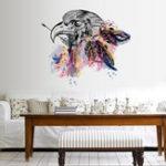 Оригинал Eagleстикерыстеныстикерспальнидекор Hark стены наклейки домашний декор ПВХ DIY художественные наклейки