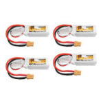 Оригинал 4Pcs ZOP Power 7.4V 450mAh 60C 2S Lipo Батарея XT30 Plug