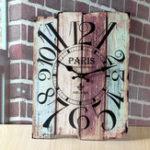 Оригинал 30x40cmRetroВинтажХарактерная деревянная стена Часы Home Coffee Shop Decor