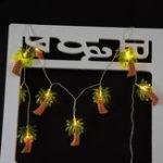 Оригинал Батарея Powered Warm White 1.2M 10LED Кокос Palm Tree Fairy String Light для домашнего декора дома
