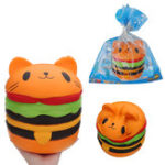 Оригинал Huge Cat Burger Squishy Jumbo 20*22CM Soft Slow Rising With Packaging Collection Gift Giant Toy