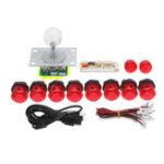 Оригинал Dual Players Red PC USB-кодеры Двойные джойстики Push Кнопки DIY Set Набор Arcade Game controller