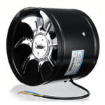 Оригинал 8 дюймов 220V 80W Inline Duct Fan Booster Вытяжной вентилятор Вентиляционный вентилятор из нержавеющей стали