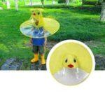 Оригинал СкладныедетиДетиКейпПлащЖелтая утка Poncho Шапка Кемпинг Тень Крышка UFO Shape Umbrella