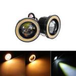 Оригинал Пара 3 / 2.5Inch LED Противотуманные фары с кольцом для глаз Halo Angel CBO 12V 20W 2400LM для внедорожников ATV Off Road Авто