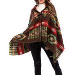 Оригинал Женское Этнический стиль Геометрический с капюшоном Fringed плащ Cardigans