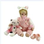 """Оригинал NPK Кукла 22 """" Кот Reborn Силиконовый Handmade Lifelike Baby Кукла Реалистичная новорожденная игрушка"""