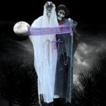 Оригинал Хэллоуин висит свет до глаз невесты и жениха Ghost Clear Sound Decorations