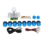 Оригинал Dual Players Blue PC USB Encoders Двойной джойстик Controller Push Кнопки DIY Набор Набор для аркадных игр