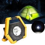 Оригинал 10W 3 режима USB перезаряжаемый портативный LED прожектор / COB прожектор Кемпинг фонарь свет На открытом воздухе