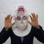 Оригинал ХэллоуинСтрашнаяголоваполноголицаМаска Латекс Cosplay Horror Costume Props Party