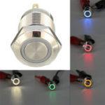 Оригинал DC5V19мм4-контактныйимпульсный выключатель Led Light Metal Push Button Водонепроницаемы Switch
