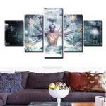 Оригинал UnframedThousandHandsOfWiseMen Современное искусство Холст Картины Home Wall Decor