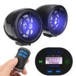 Оригинал 2.5 / 3inch Bluetooth мотоцикл Аудио Радио Звуковая сигнализация Стереодинамик MP3 LED