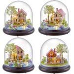 Оригинал DIYМузыкаКоробкаDollsHouseDollhouse Ручные миниатюрные детские наборы Toy Gift