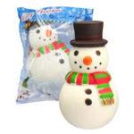 Оригинал Шапка Снеговик Squishy 15.8 * 8.8 * 9.2CM Soft Медленный рост с коллекцией подарков для подарков