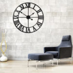 Оригинал Ретро круглой стеной Часы Римская цифра Современная минималистическая кухня Home Decor