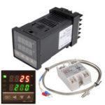 Оригинал 110-240V 0 ~ 1300 ℃ REX-C100 Цифровой контроллер температуры ПИД-регулятора Набор Функция сигнализации с реле Зонд