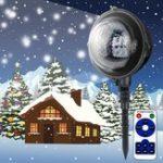 Оригинал 5W 4 LED Снежинка Рождество Проектор Снегопад LED Сценический свет Пейзаж На открытом воздухе Декор AC85-240V