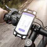 Оригинал FlovemeУпругиеизносостойкиеСиликоновыйВелосипедДержатель для руля велосипеда для iPhone Мобильный телефон