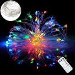 Оригинал ARILUX Батарея Приведенный в действие 8 режим 5M 10M RGBWYP Colorful LED Свет праздничного света с IR Дистанционное Управление