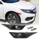 Оригинал Пара копченых боковых маркеров сигнальных огней Замена T10 LED Лампы для Honda Civic 16-18