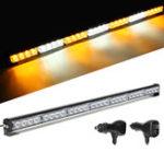 "Оригинал 31 ""28 LED Авто Мигающий предупреждающий световой бар Трафаретный стробоскоп Лампа DC12V Amber & White"