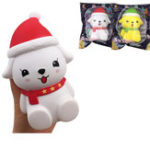 Оригинал Squishyfun Christmas Собака Squishy 15 * 10 * 7CM лицензировано медленно растет с упаковкой