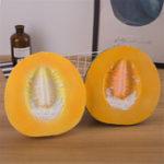Оригинал Giant Cantaloupe Squishy 9.84in 25 * 24 * 11CM Огромные фрукты медленно растут с упаковкой Soft Игрушка