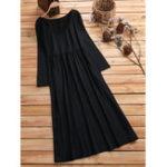 Оригинал Plus Размер Черный с длинным рукавом Maxi Платье для Женское