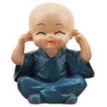 Оригинал КреативныечетыренетрястиМаленькийбуддийский монах Будда Сейф Авто Украшение Симпатичные Кукла Авто Украшения