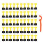 Оригинал 51шт. Пластик Керамический Leveler Набор T Комплекты системы выравнивания для плиточных распорок