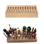 Оригинал 98 Отверстия DIY Кожаное ремесло Инструмент Хранение Бук Штампы Ручка Щетка Stand Holder