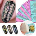 Оригинал 20Pcs Mix Color Hollow Ногти Наклейка