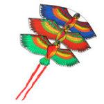 Оригинал НаоткрытомвоздухеПляжныйParkПолиэстер Кемпинг Flying Kite Bird Parrot Steady String Spool для взрослых
