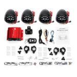 Оригинал 4 Динамик Усилитель Система Дистанционное Управление Аудио с функцией Bluetooth для ATV мотоцикл