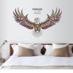 Оригинал FearlessEagleНаклейкадлястикеровдля гостиной на стенах для гостиной с настенными рисунками на стенах DIY Виниловые наклейки из витражей