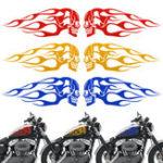 Оригинал 2pcs 13.5x5inch Универсальный мотоцикл Газовый танк Flags Череп Значок наклейки с надписью Красный / Синий / Желтый