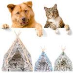 Оригинал Складное белье Pet Собака Дом Моющийся палаточный щенок Кот Крытый На открытом воздухе Teepee Mat