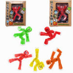 Оригинал 5PCS Stikbot Sucker Suction Cup Смешные деформируемые Sticky Robot Action Figure Toy