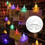 Оригинал AC220V 2.5M Plug in 20 LED Star Colorful Зажимы для фото Fairy String Light Hanging Peg Свадебное Лампа