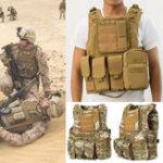 Оригинал CoumouflageВоенныйТактическийжилетMolleCombat Assault Защитная одежда CS Стреляющий охотничий жилет
